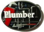 Plumber & Pipes Belt Buckle + display stand. Code PC7
